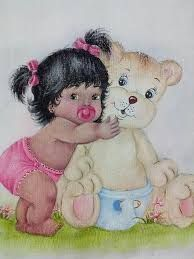 Resultado de imagem para pinterest pinturas em fraldas bebes negras