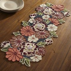 Merveilleux Yes, And Thatu0027s Why We Love Our Handcrafted, Beaded Table Runner. Big, Bold  Flowers In Magnificent Shades Will Put On A Spectacular Show On Your  Console, ...