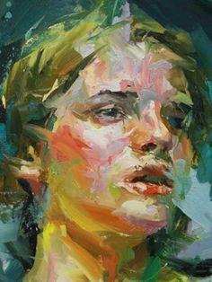 George-Maran Varthalitis (©2014 artmajeur.com/varthalitisgm) A Girl's Face - Oil on canvas