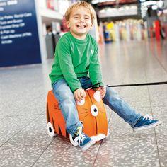 Valise pour enfant avec siège et roulettes Tigre Trunki