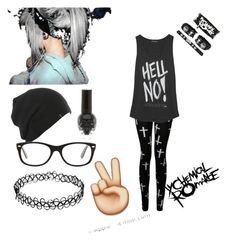 """""""."""" by xshadowbunnyx ❤ liked on Polyvore featuring Ray-Ban"""