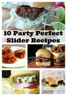 Mom's Test Kitchen: 10 Party Perfect Slider Recipes Diner Recipes, Tailgating Recipes, Burger Recipes, Appetizers For Party, Appetizer Recipes, Brie, Think Food, Football Food, Game Day Food