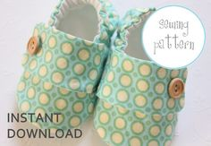 Baby Shoe Pattern Sneakers Sizes 1 to 5 by petitboo on Etsy