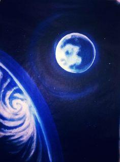 blue earth acrylique sur toile
