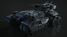 Tank AS-203, Álvaro San Juan on ArtStation at https://www.artstation.com/artwork/Av6YV