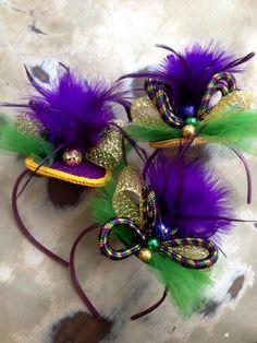 Fleurty Girl - Everything New Orleans - Metallic Mardi Gras Headband - Mardi Gras, $20.