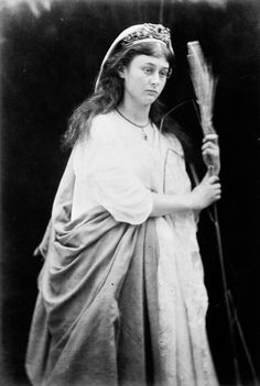 Cool rare photo of a sorta older Alice Liddell as St Agnes, 1872. Never seen this photo before