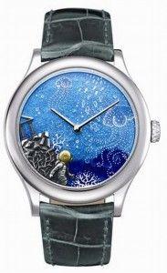 """Twenty Thousand Leagues under the Sea"" is one of the exquisite new men's watch designs in Van Cleef & Arpels Poetic Complications timepieces designed by genius, watchmaker Jean-Marc Wiederrecht."
