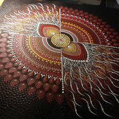 Jūratė 🇱🇹 on Mandala Canvas, Mandala Dots, Mandala Pattern, Mandala Design, Dot Art Painting, Mandala Painting, Abstract Paintings, Aboriginal Art Australian, Aboriginal Artwork