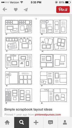 Simple scrapbook layouts