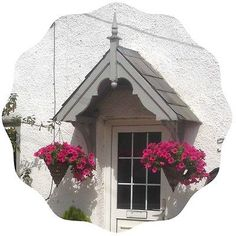 Handcrafted timber door canopies, barge boards and gallows brackets. Porch Uk, Porch And Terrace, Front Door Porch, Wooden Front Doors, Timber Door, House With Porch, Cottage Front Doors, Cottage Porch, Cottage Exterior