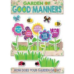Garden of Good Manners Mini Bulletin Board Set 21 pieces