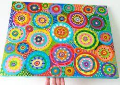 Abstract Painting circles / Original canvas painting by tushtush