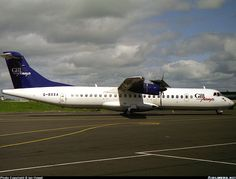 ATR 72-202, Gill Airways, G-BXXA, cn 301, 66 passengers, first flight 29.4.1992 (Air Tahiti), Gill Airways delivered 27.4.1998. Foto: Newcastle, United Kingdom, May 2000. Air Tahiti, Atr 72, Newcastle, United Kingdom, Aircraft, British, The Unit, Aviation, England