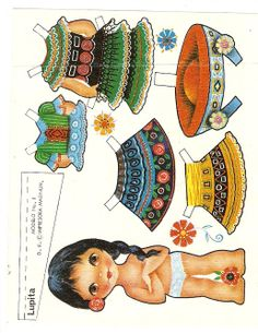 Oh My Goodness I had this one and so many others. They came in a snack wrapping. Paper Doll Craft, Doll Crafts, Paper Toys, Paper Crafts, Paper Puppets, Paper Dolls Printable, Vintage Paper Dolls, Little Doll, Illustrations