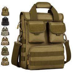 Men s Vintage Military Bag Satchel Shoulder Messenger Handbag Tote Amry Pack