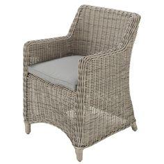 Wicker Garden Armchair In Grey Cape Town £189