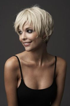 Pixie - color....like this one. Wonder how it would look on a brunette?