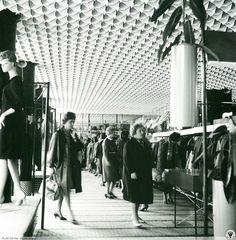 dom mody Telimena, Wrocław, 1965 Dom, Louvre, Polish, Times, Places, Vintage, Fashion, Moda, Vitreous Enamel