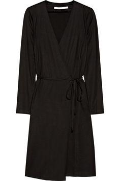Terrazzo silk and cotton-blend wrap dress by Diane von Furstenberg