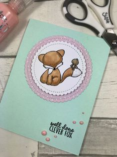 Well Done Clever Fox.  Using stamps from Mama Makes.  www.sharon-curtis.com #mamamakesstore #mft #cardmaking #stamping
