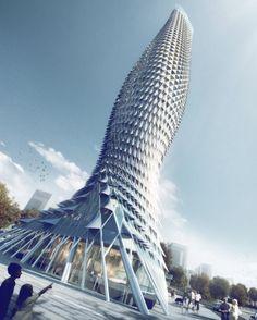 Обзорная башня в Доумэнь, Чжухай, Китай