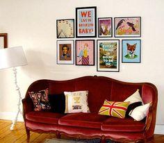 Como decorar usando quadrinhos ~ Aquelas