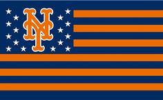 NY Mets Blue & Orange Flag My Mets, How Soon Is Now, Lets Go Mets, Mets Baseball, New York Mets, Blue Orange, Pallets, Bud, Notre Dame