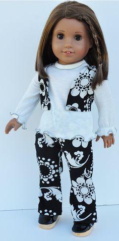 American Girl Julie 3 Piece Black & Ivory by LoriLizGirlsandDolls, $26.00