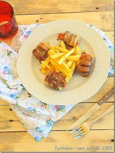 Syntages...apo spiti: Ρολάκια πανσετας με ντομάτα και πιπέρια