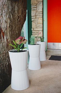 Stack up Kardemumma pots to create a modern container garden. | 19 Incredibly Clever Ways To Use Ikea Products As Your Garden