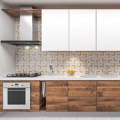 Cozinhas com toque de amarelo: nós amamos! 💛 ⠀ Contrastamos o amadeirado com branco e deixamos o azulejo minimalista como protagonista nesse projeto!  ____________________________ #projetomoca #geometry #perspective #geometric #pattern #archilovers #minimal #color #background #style #design #colorful #minimalism #minimalist #pretty #inspiration #art #illustration #drawing #draw #picture #sketch #office #3d #homedecor #kitchen #cozinha #pinterest #architecture