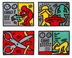 Pop Shop Quad III, 1989 Keith Haring