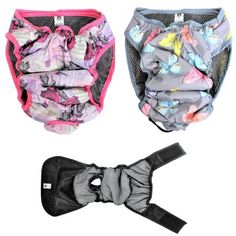 PACK - 2 Colors LEAK PROOF Waterproof Cat Dog Diapers Female WASHABLE Reusable ABSORBENT Pad Padding Lined for Small Medium Large Pets -- You can find more details by visiting the image link. (This is an affiliate link and I receive a commission for the sales)
