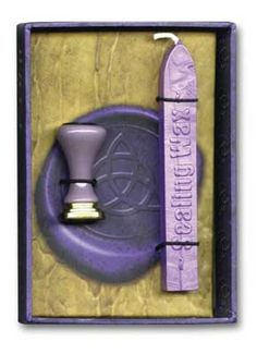 Use this wiccan wax seal kit to customize your invitations, greeting cards, spells, rituals, and more with enchanting wax stamps.  www.ancient-wisdoms.com