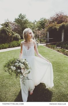Soft and Romantic Wedding Dress for the Simple Bride   Photography by Fiona Clair   Styled Shoot   Dress by Janita Toerien Wedding Gowns   Flowers by Foraged   Venue Weltevreden Estate