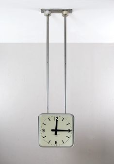Gio Ponti; Aluminum Ceiling-Mounted Clock by Boselli for the Palace Offices for Montecatini, 1936.