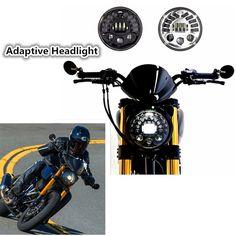 87.10$  Buy now - http://ali9fj.worldwells.pw/go.php?t=32784927264 - Adaptive Motorcycle LED Headlight drl led daytime running light Parking lamp Turn Signal Light For Harley Moto Adaptive Headlamp