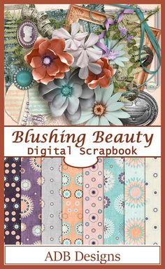 Antiques, ephemera, and grandma's jewelry make Blushing Beauty a perfect choice for scrapping vintage photos. #ADBDesigns #digitalscrapbooking #BlushingBeauty #godigitalscrapbooking http://www.godigitalscrapbooking.com/shop/index.php?main_page=index&cPath=234_455_475&sort=20a&filter_id=171&alpha_filter_id=0