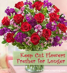 Here are four simple solutions using items you already have on hand to help keep flowers fresh longer.