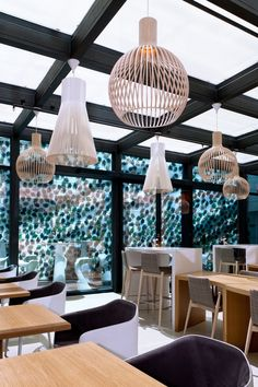 Octo 4240 and Magnum 4202 pendants at Hotel Evolution in Lisbon, Portugal. Photo by: Uzi Varon.