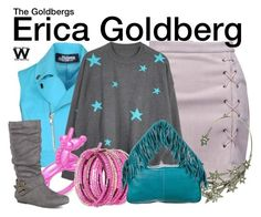 """""""The Goldbergs"""" by wearwhatyouwatch ❤ liked on Polyvore featuring Jeremy Scott, WithChic, Kate Spade, Journee Collection, Runa, Erica Lyons, Schumacher and television"""