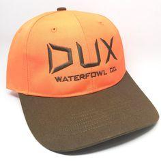e08f3be3948 DUX Waterfowl Co. Blaze Orange Hat Orange Hats