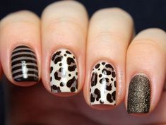 Find images and videos about nails, nail art and animal print on We Heart It - the app to get lost in what you love. Crazy Nails, Love Nails, My Nails, French Nails, Gorgeous Nails, Pretty Nails, Uñas Color Cafe, Leopard Print Nails, Leopard Prints