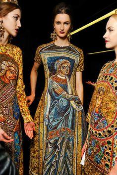 Byzantine-inspired dresses at Dolce & Gabbana Fall 13