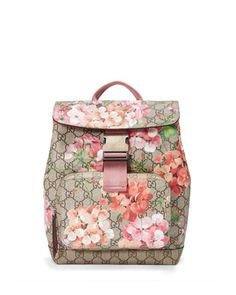 GG+Blooms+Small+Backpack,+Multi+Rose+by+Gucci+at+Neiman+Marcus.
