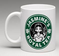 Disney Starbucks Inspired Princess Jasmine Aladdin Coffee Mug Tea Cup Gift