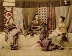 Japanese Cloth Merchants 1880s