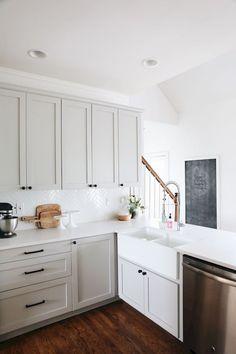 82 incredible farmhouse gray kitchen cabinet design ideas