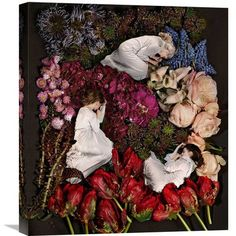 "Global Gallery 'Sleeping in Flowers' by James Hall Photographic Print on Wrapped Canvas Size: 22"" H x 19.4"" W x 1.5"" D"